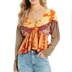 NWT FREE PEOPLE ALOHA STATE OF MIND BLOUSE